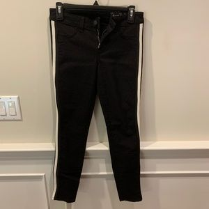 SIWY Black Denim Jeans with White Stripe on Side